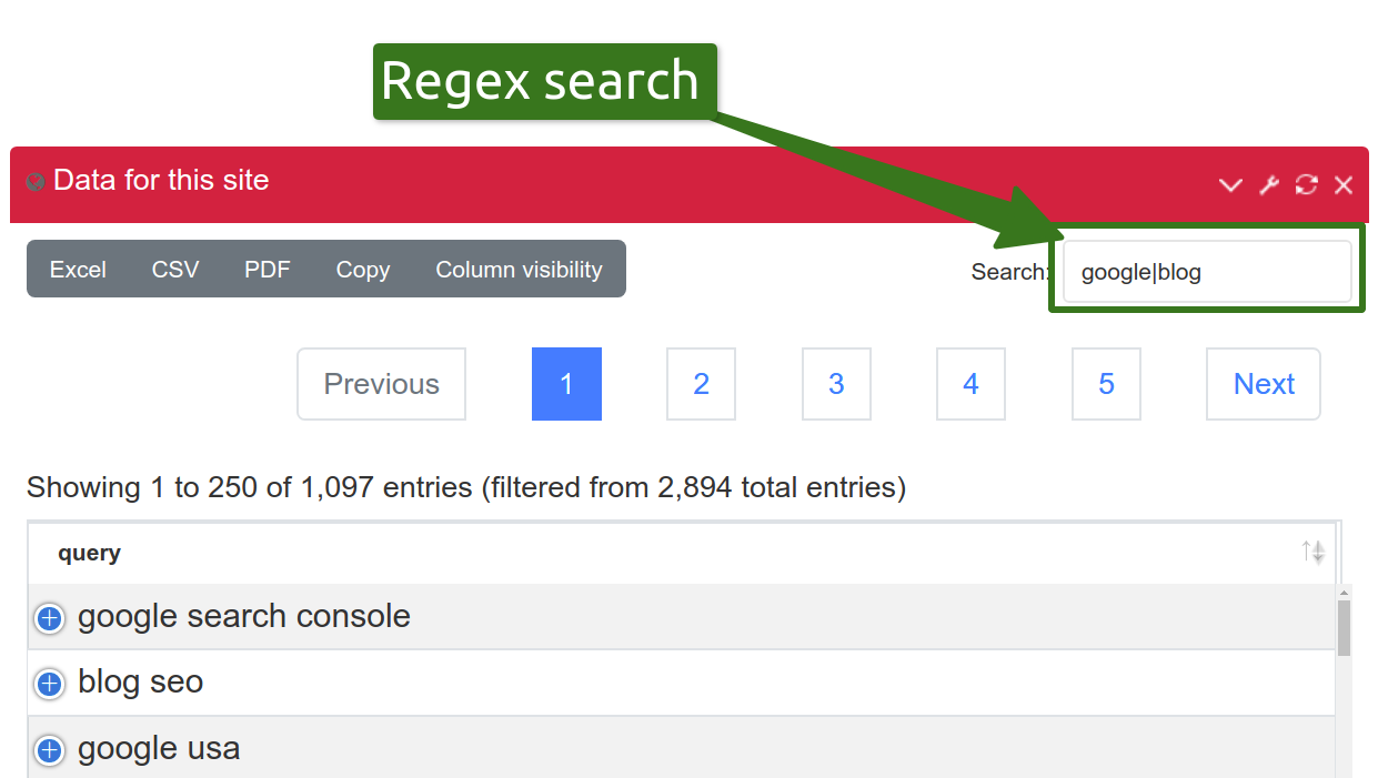 Exportar datos de Google Search Console - Seo Tool